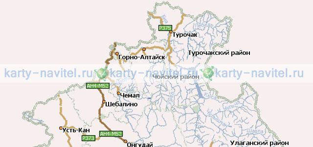 На фото часть карты республики алтай