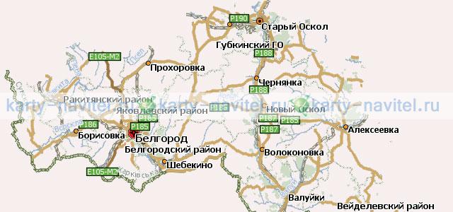 Белгородская область - карта