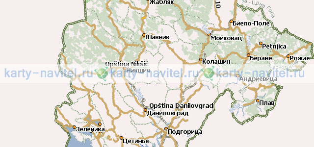 скачать карту черногории для навител