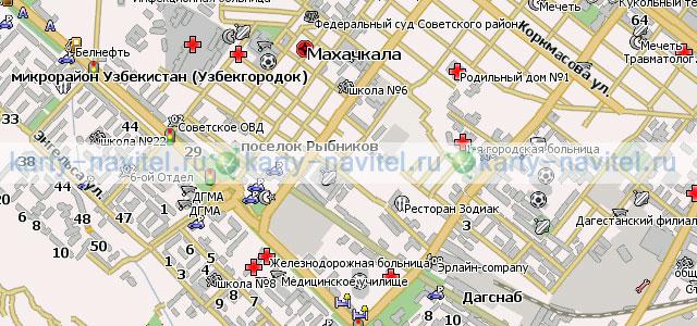 карта города махачкала с