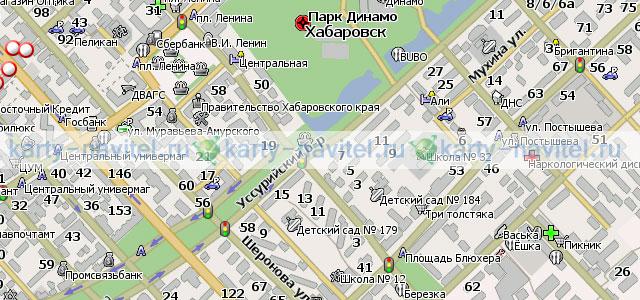 Хабаровск - карта города для