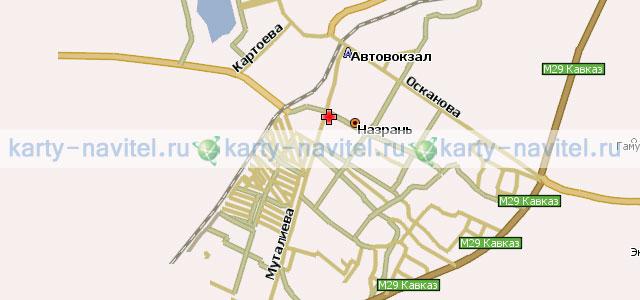 Назрань карта города для навител