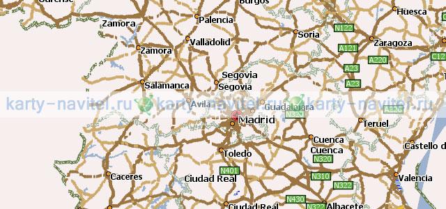 На фото фрагмент карты испании на