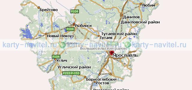 Ярославская область - карта