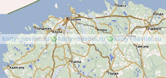 На фото фрагмент карты эстонии на