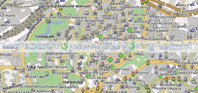 Таллин - карта города для