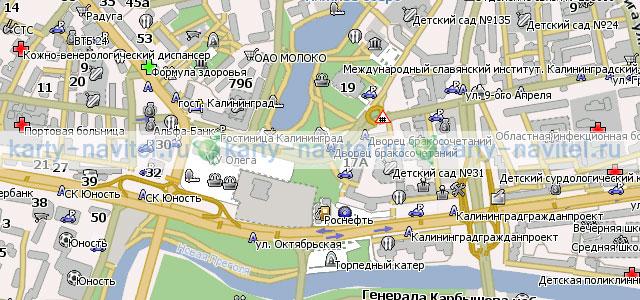 Калининград карта города для навител
