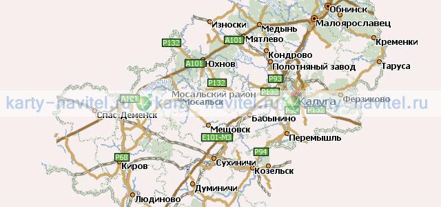 Калужская область карта для навител