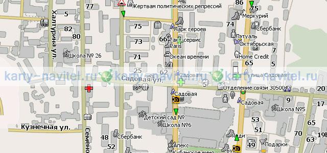 Курск - карта города для