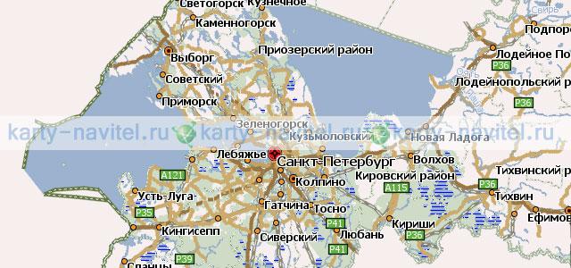 Свежие Карта Санкт-Петербурга И Области Nm2