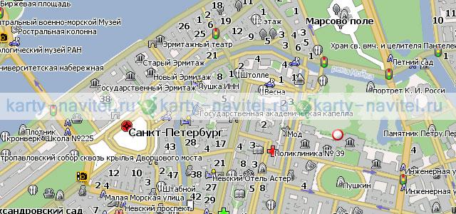 Санкт-Петербург - карта города