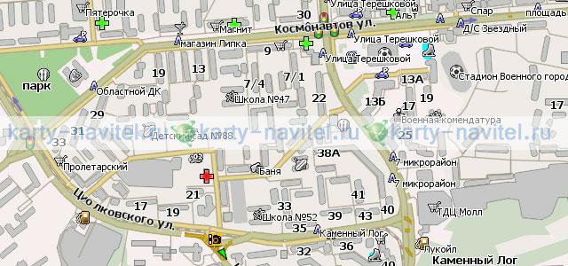 Карта Липецка. Подробная карта