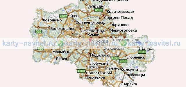 Mapinfo Московская Область