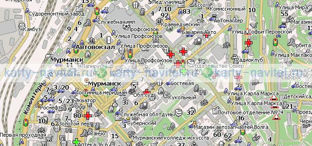 Мурманск - карта города для