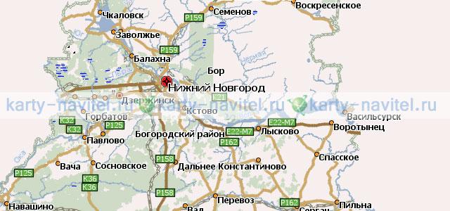 Нижегородская область - карта