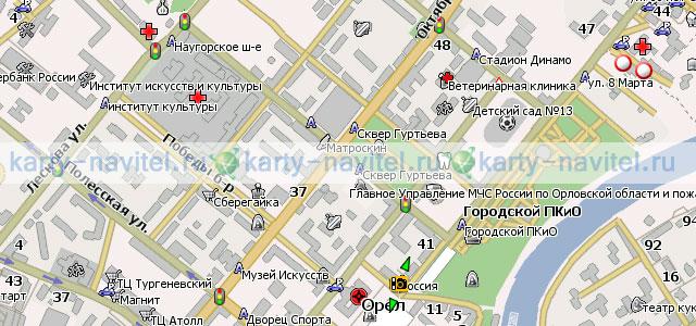 Орел - карта города для