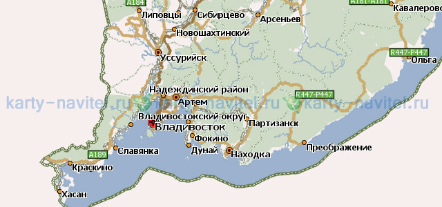 Скачать бесплатно для навигатора карту приморского края