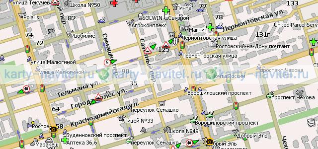 Ростов-на-Дону - карта города