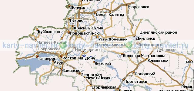 Ростовская область - карта для