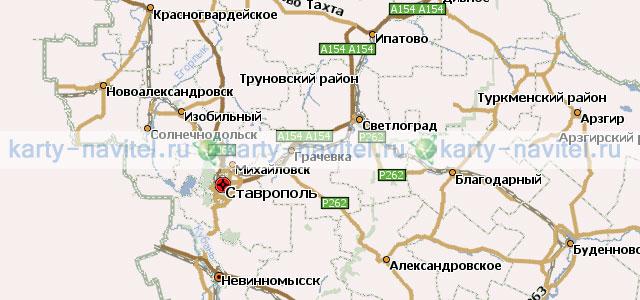 navitel карта ставропольского
