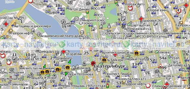 Екатеринбург - карта города