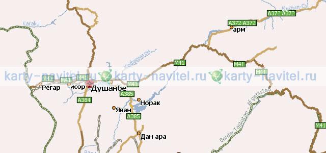 На фото фрагмент карты таджикистана