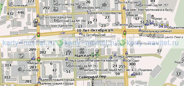 Ижевск - карта города для