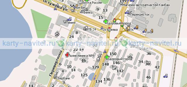 карта воронежа с улицами и домами скачать