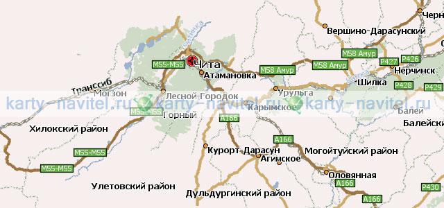 На фото фрагмент карты забайкальского