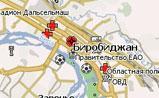 небольшая карта Биробиджана