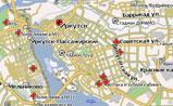 мини карта Иркутска