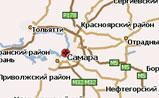 мини-карта Самарской области