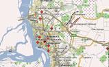 мини карта Хабаровска