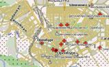 мини карта Оренбурга