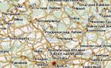 мини карта Чехии