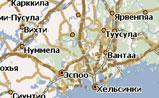 мини карта Финляндии