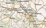 небольшая карта Сербии