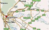небольшая карта Словакии